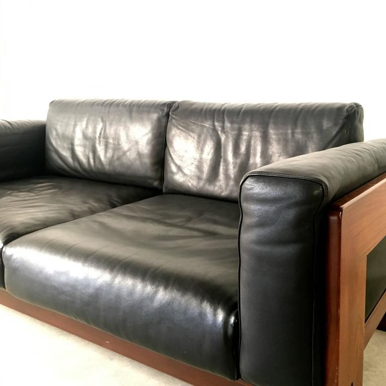 two seat sofa 39 bastiano 39 by afra and tobia scarpa for gavina for sale at 1stdibs. Black Bedroom Furniture Sets. Home Design Ideas