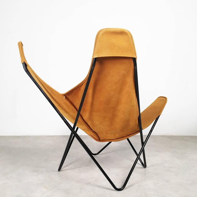 butterfly chair by jorge ferrari hardoy for knoll for sale at 1stdibs. Black Bedroom Furniture Sets. Home Design Ideas