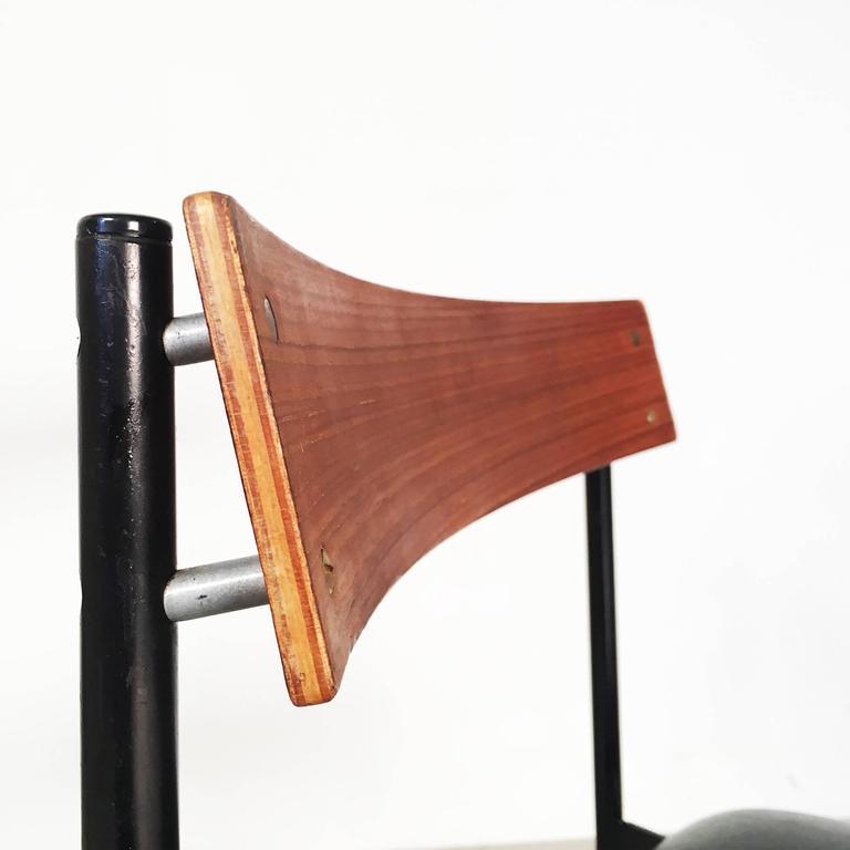 set of four modernist dining chairs by rego moderne m bel. Black Bedroom Furniture Sets. Home Design Ideas