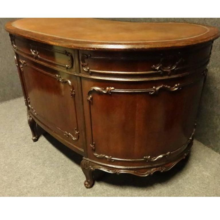 quality of kitchen cabinets top quality chippendale mahogany kidney desk for at 25033