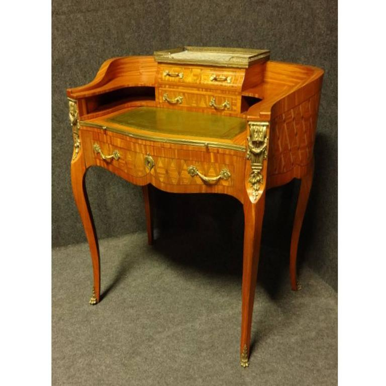 Outstanding Parquetry French Ladies Writing Desk 2 - Outstanding Parquetry French Ladies Writing Desk At 1stdibs