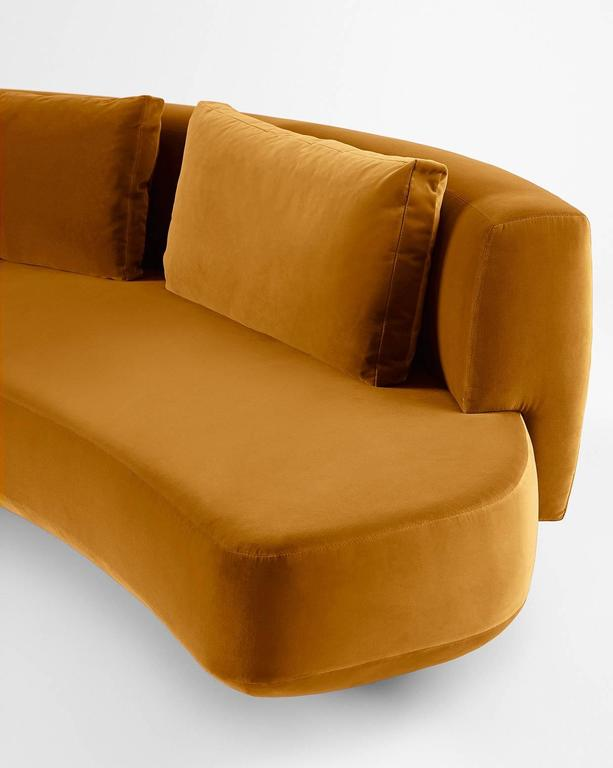 Gallotti and Radice Round Audrey Sofa in Velvet, Fabric or Leather ...