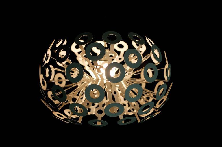 Modern Moooi Dandelion Suspension Lamp in White Powder Coated Metal For Sale