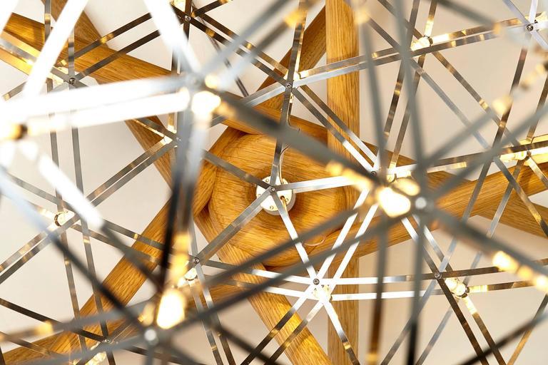 Dutch Moooi Raimond Tensegrity LED Floor Lamp by Raimond Puts For Sale