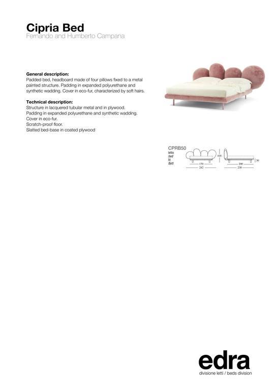Contemporary Edra Cipria Bed by Fernando e Humberto Campana For Sale
