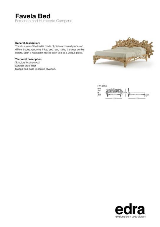Contemporary Edra Favela Bed by Fernando and Humberto Campana For Sale