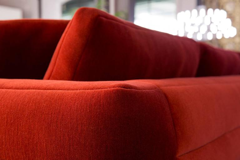 Moooi Boutique Botero Sofa in Red Velvet In Excellent Condition For Sale In Rhinebeck, NY