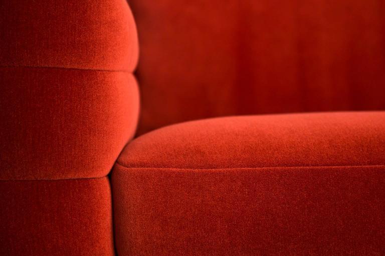 Modern Moooi Boutique Botero Sofa in Red Velvet For Sale