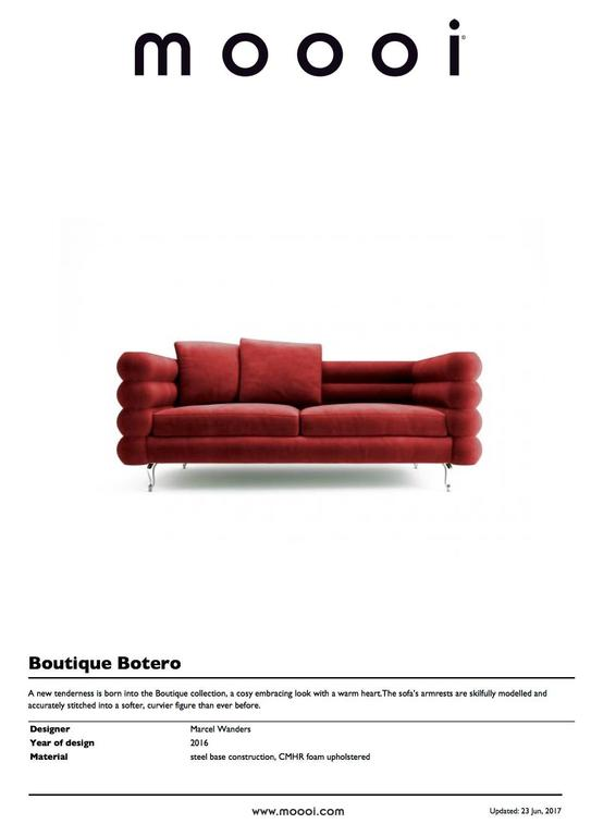 Moooi Boutique Botero Sofa in Red Velvet For Sale 1