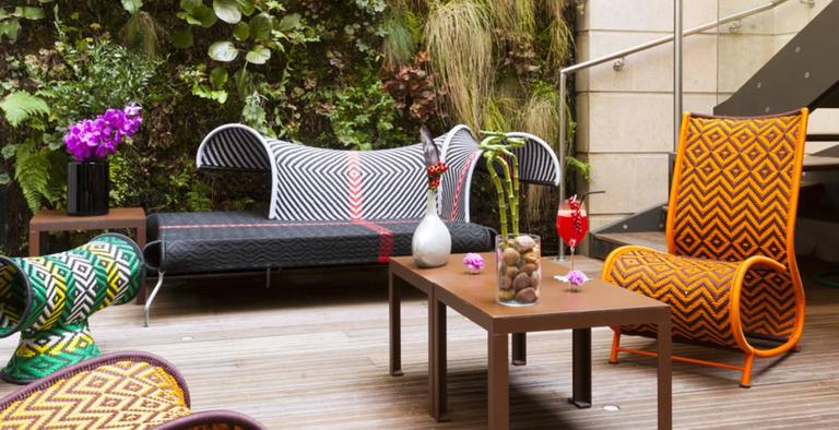 Contemporary Moroso Touti Stool by Patricia Urquiola in Red or Green Color Combinations For Sale