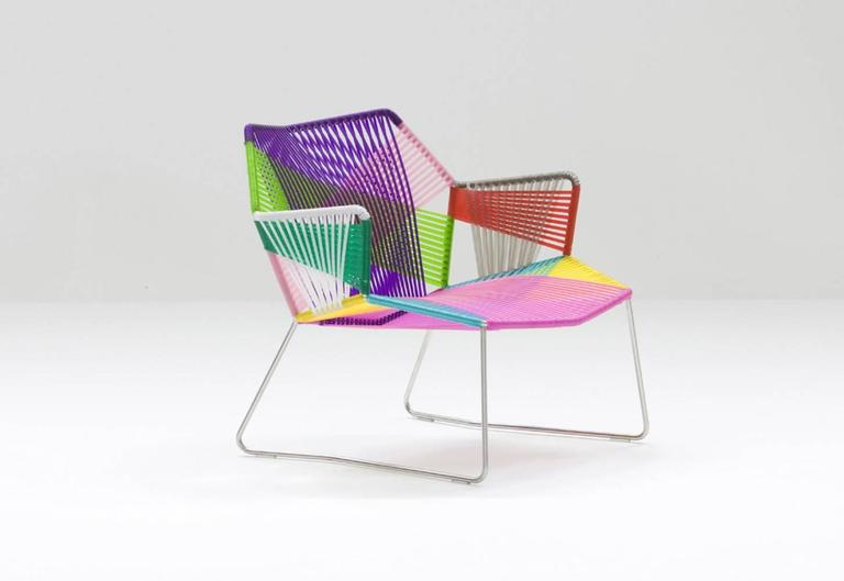 Modern Moroso Tropicalia Lounge Chair with or Without Arms for Indoor or Outdoor Use For Sale