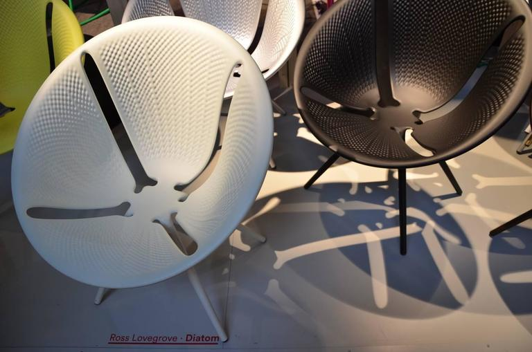 Aluminum Moroso Diatom Stackable Chair for Indoor and Outdoor Use by Ross Lovegrove For Sale