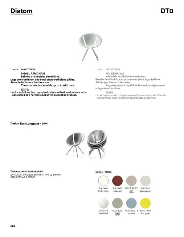 Moroso Diatom Stackable Chair for Indoor and Outdoor Use by Ross Lovegrove For Sale 1