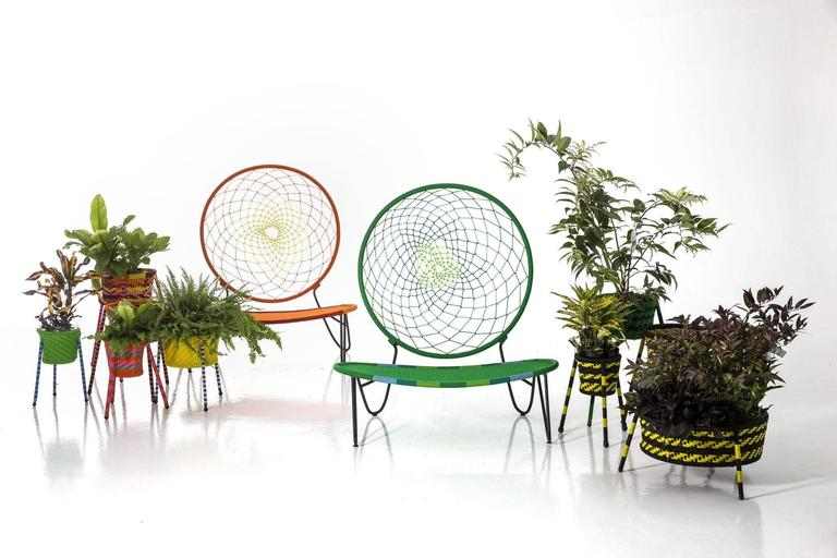 Modern O)< Chair by Tord Boontje for Moroso for Indoor & Outdoor Use For Sale