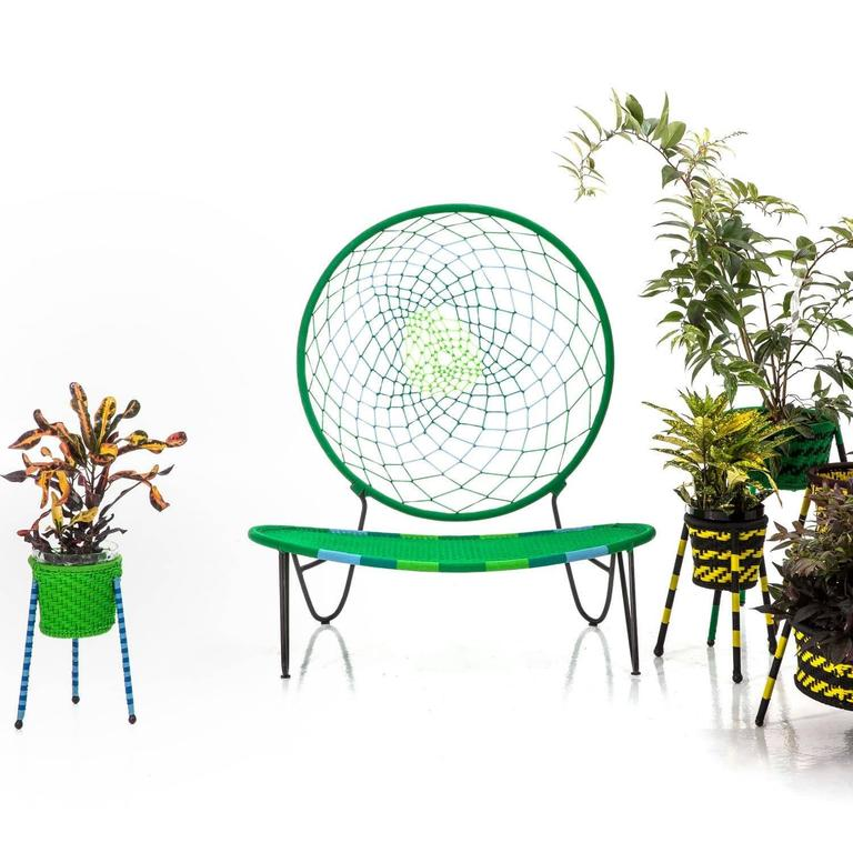 Senegalese O)< Chair by Tord Boontje for Moroso for Indoor & Outdoor Use For Sale