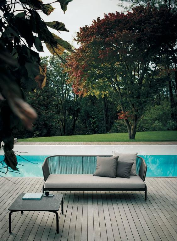 RODA Spool three-Seat Sofa for Outdoor/Indoor Use by Rodolfo Dordoni In New Condition For Sale In Rhinebeck, NY