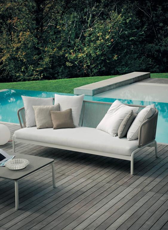 Italian RODA Spool three-Seat Sofa for Outdoor/Indoor Use by Rodolfo Dordoni For Sale