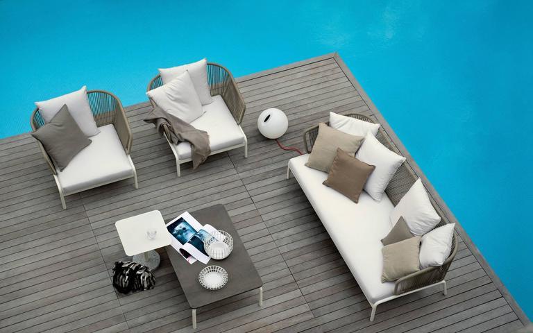 Modern RODA Spool three-Seat Sofa for Outdoor/Indoor Use by Rodolfo Dordoni For Sale