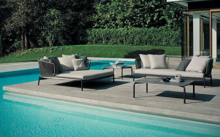 Powder-Coated RODA Spool three-Seat Sofa for Outdoor/Indoor Use by Rodolfo Dordoni For Sale
