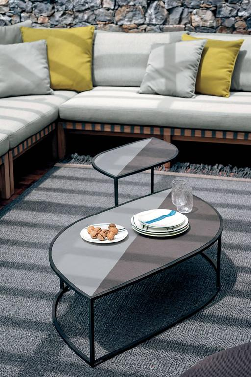 Contemporary Roda Leaf Coffee Table for Outdoor/Indoor Use in Glazed or Natural