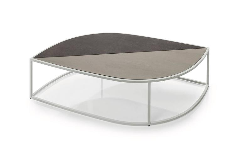 Italian Roda Leaf Coffee Table for Outdoor/Indoor Use in Glazed or Natural