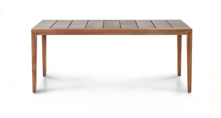 Italian Roda Teka Dining Table for Outdoor/Indoor Use in Teak and Glazed or Matt