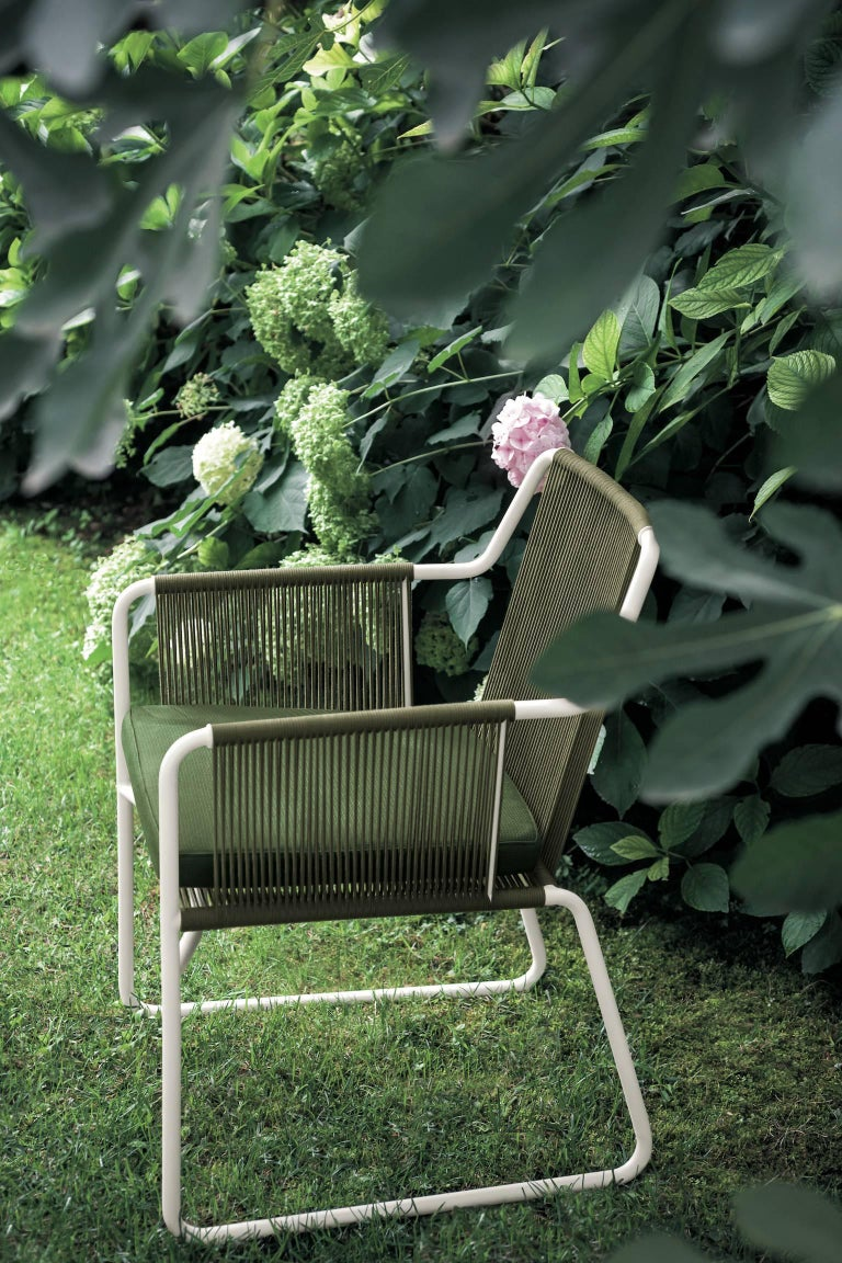 Roda Harp Dining Chair With Arms For Outdoor Indoor Use In