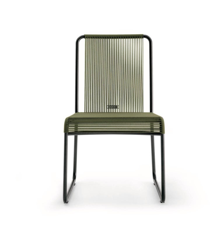 Modern Roda Harp Dining Chair Without Arms for Outdoors/Indoors in 5 Color Combinations For Sale