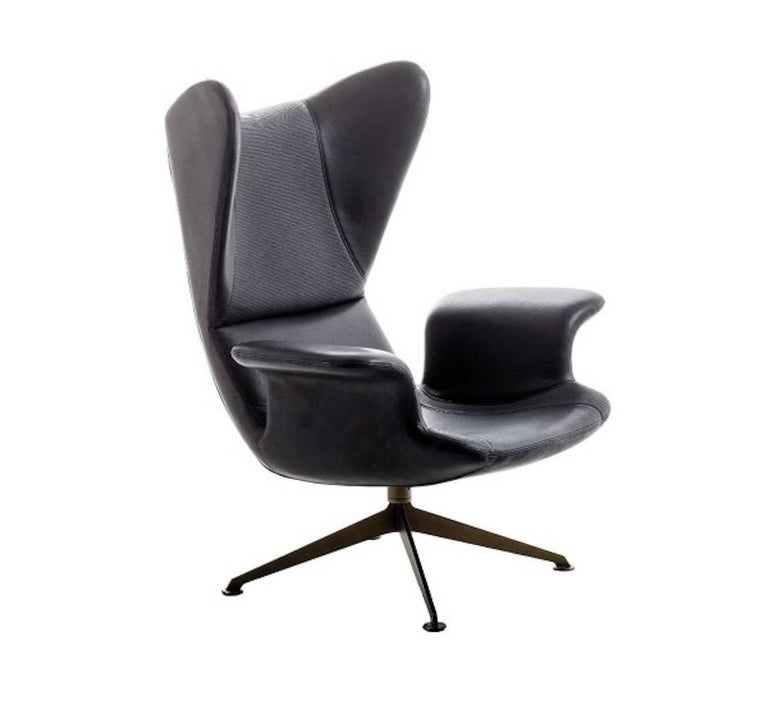 longwave high back armchair with swivel base by diesel with moroso for sale at 1stdibs. Black Bedroom Furniture Sets. Home Design Ideas
