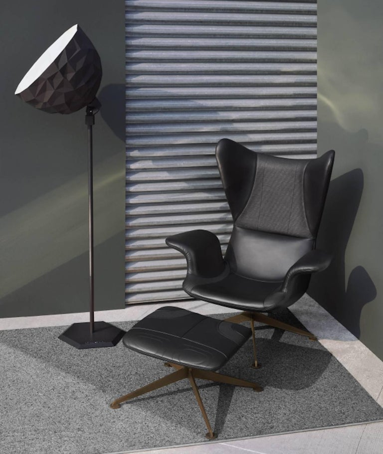 Longwave High Back Armchair With Swivel Base By Diesel