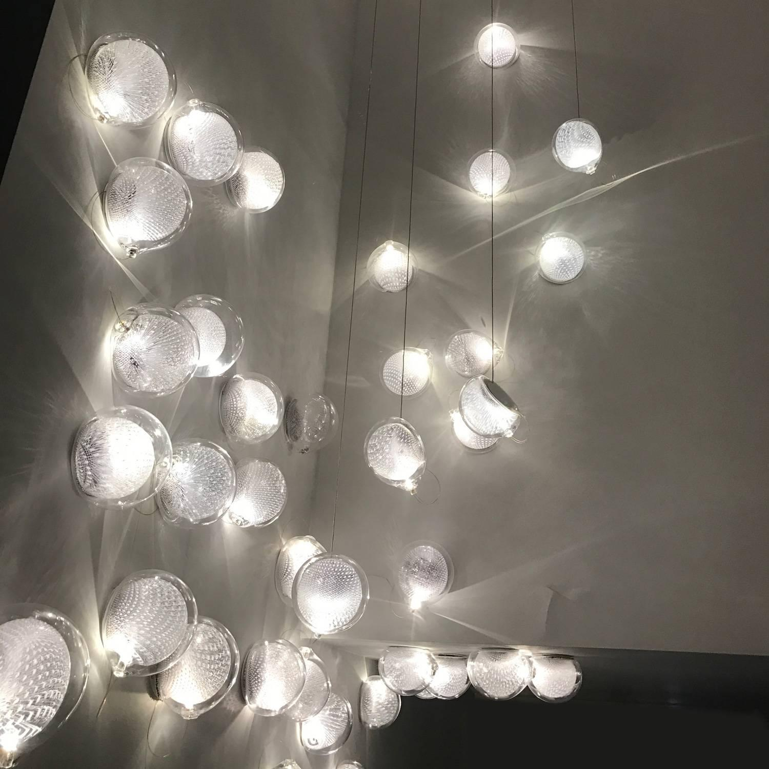 Bocci Len bocci 76s led wall sconce or ceiling fixture in blown glass and