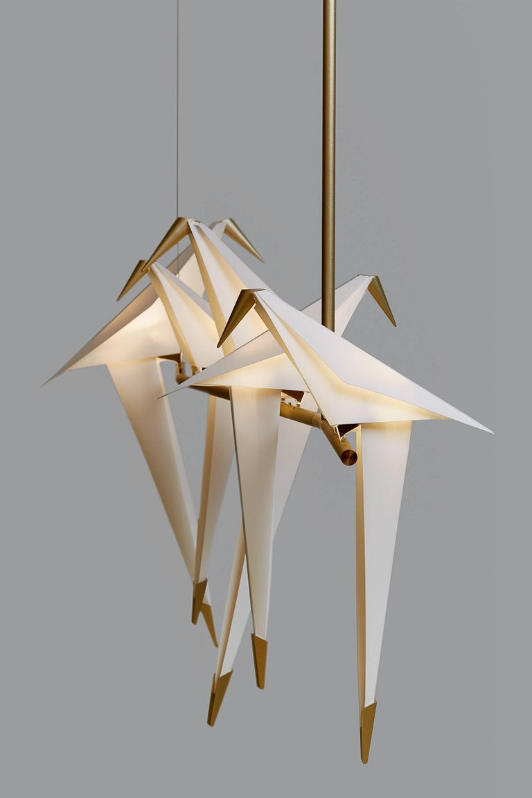 Dutch Moooi Perch Light Branch Chandelier in LED For Sale