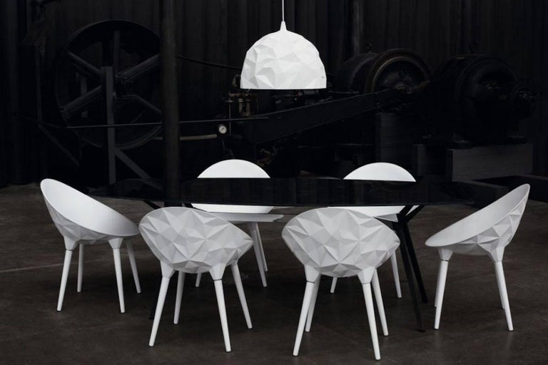 Rock Dining Chair by Diesel for Moroso in Black, White or Grey In Excellent Condition For Sale In Rhinebeck, NY