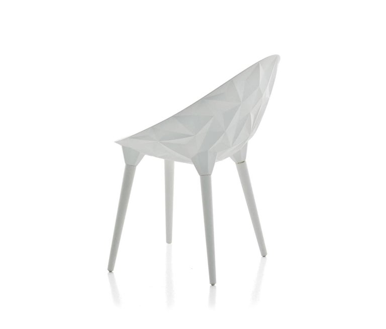 Italian Rock Dining Chair by Diesel for Moroso in Black, White or Grey For Sale