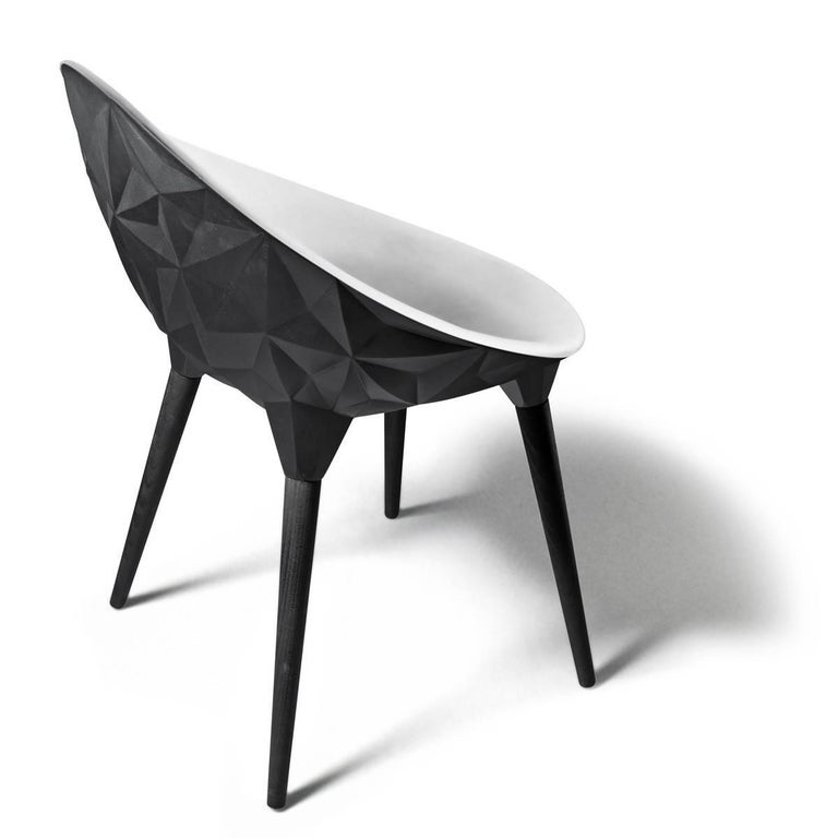 Rock Dining Chair by Diesel for Moroso in Black, White or Grey 2