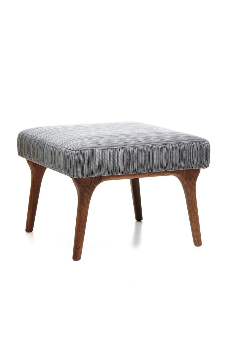 Moooi Zio Lounge Chair And Ottoman In Stained Solid Oak