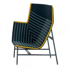 Paper Planes Left or Right High Back Armchair in Jacquard by Doshi & Levien