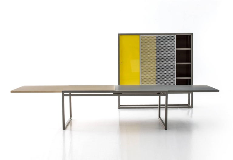 Italian Moroso Library Bookcase by Jörg Schellmann in Blue, Green, Orange or Yellow For Sale