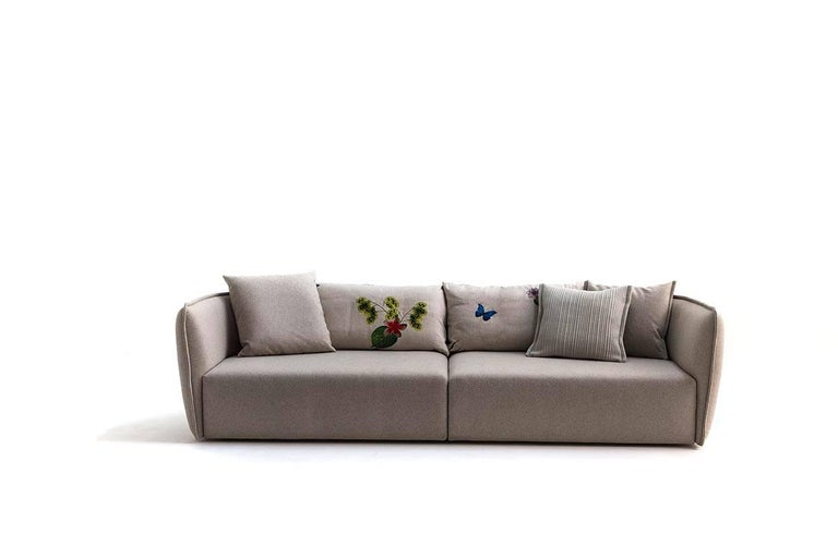 Leather Chamfer 1 Three-Seat Sofa by Patricia Urquiola for Moroso For Sale