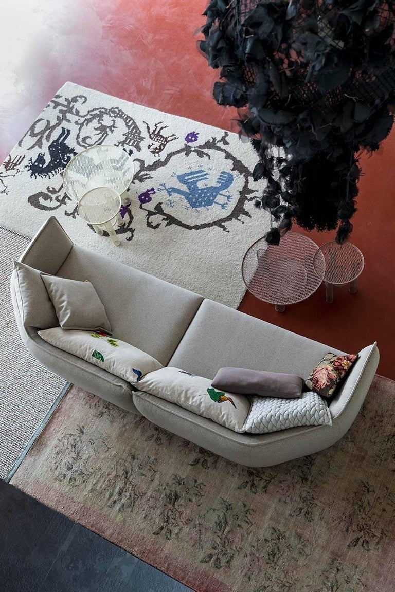 Chamfer 1 Three-Seat Sofa by Patricia Urquiola for Moroso For Sale 2