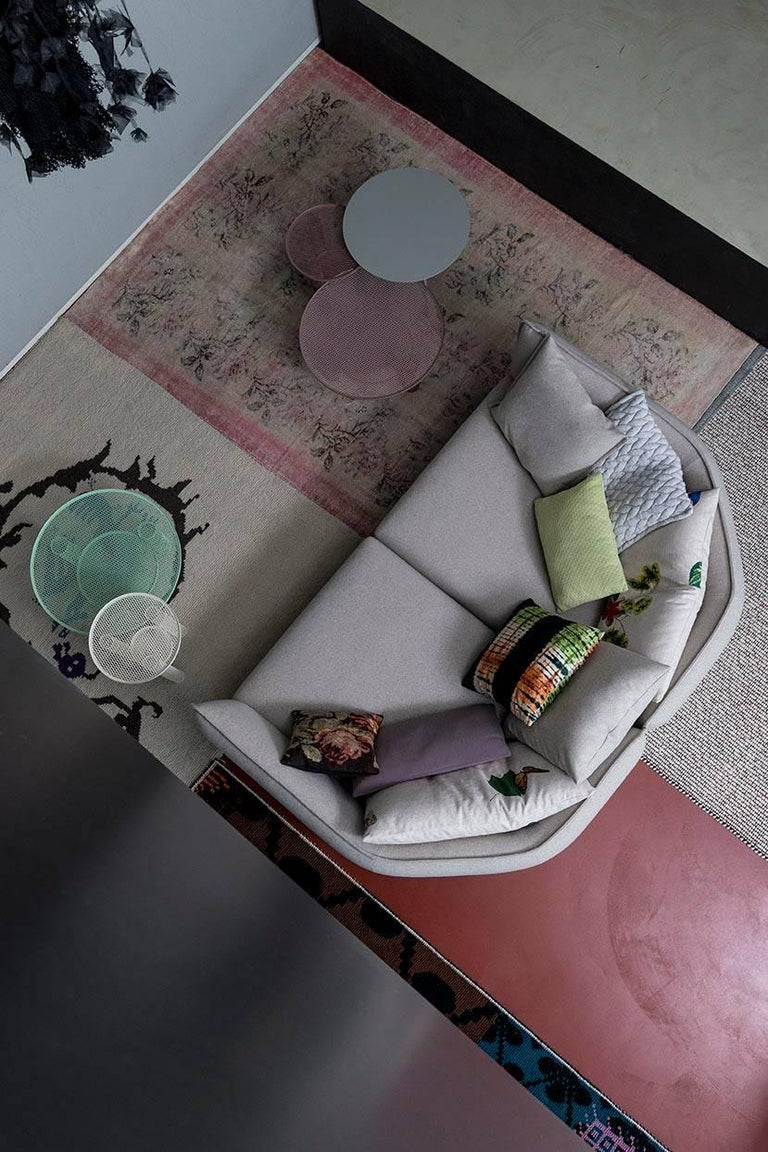 Quilted Chamfer 1 Three-Seat Sofa by Patricia Urquiola for Moroso For Sale