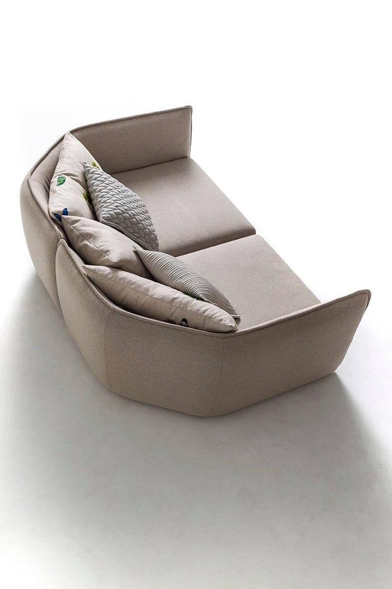Chamfer 1 Three-Seat Sofa by Patricia Urquiola for Moroso For Sale 4