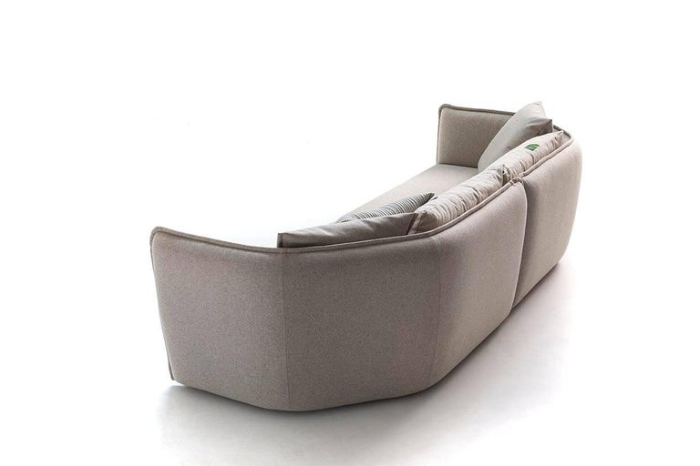 Quilted Chamfer 2 Round Sofa by Patricia Urquiola for Moroso in Three Configurations For Sale