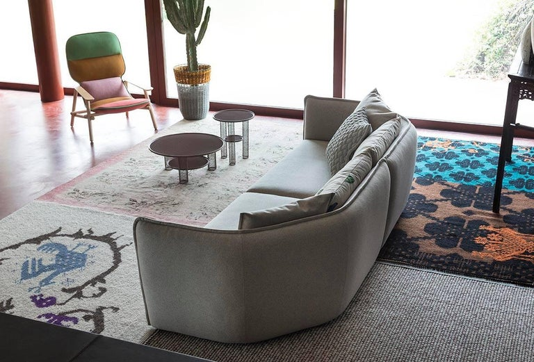 Contemporary Chamfer 2 Round Sofa by Patricia Urquiola for Moroso in Three Configurations For Sale