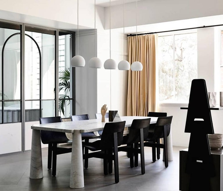 Tre 3 Dining Chair In Slung Leather And Natural Or Dark