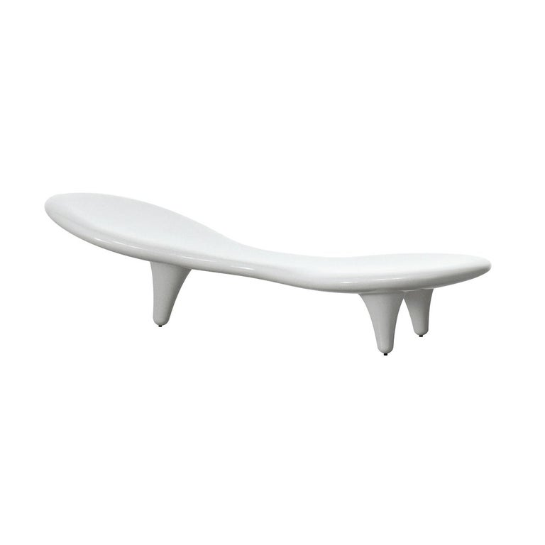 Orgone Bench by Marc Newson in Five Color Options of Fiberglass for Cappellini