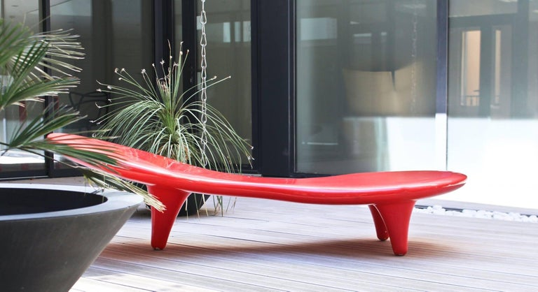 Orgone Bench by Marc Newson in Five Color Options of Fiberglass for Cappellini In Excellent Condition For Sale In Rhinebeck, NY