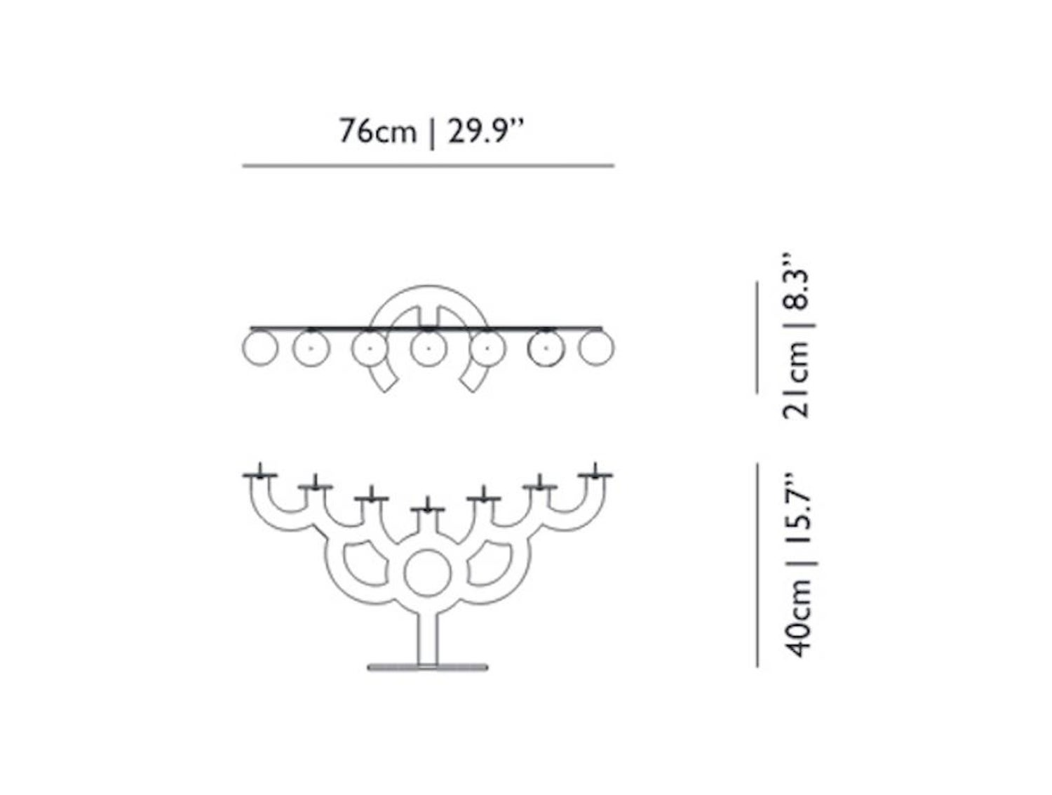 Moooi Menorah Bold Candleholder In White Powder Coated Steel By Lighting Diagram Roderick Vos For Sale At 1stdibs
