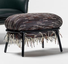 Grasso Ottoman Special Edition Version Designed by Stephen Burks+Bolón Textiles