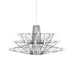 Moooi Coppélia Large Matte Black LED Suspension Light Fixture with 54 Lamps
